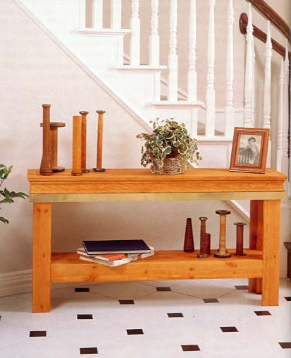 Entry Hall Table, Wood Furniture Plans, IMMEDIATE DOWNLOAD