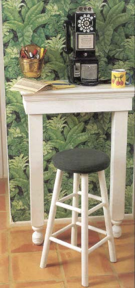 Telephone Table, Wood Furniture Plans, IMMEDIATE DOWNLOAD