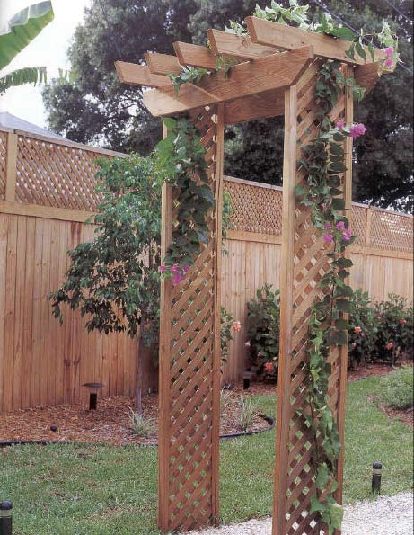 Backyard arbor outdoor wood plans immediate download for Plans for arbors