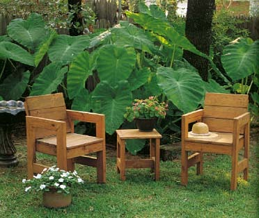 outdoor wood patio furniture plans