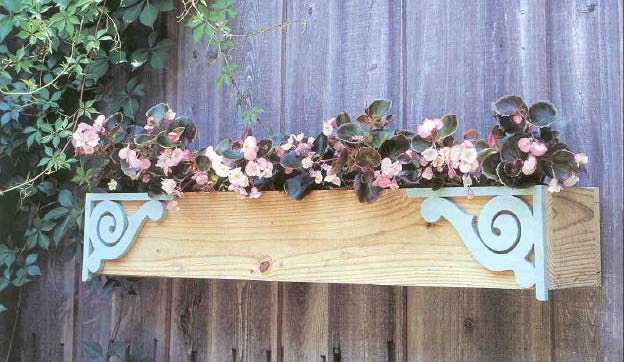 Fence Planter, Outdoor Wood Plans, IMMEDIATE DOWNLOAD