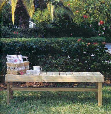 Lawn Bench, Outdoor Wood Plans, IMMEDIATE DOWNLOAD