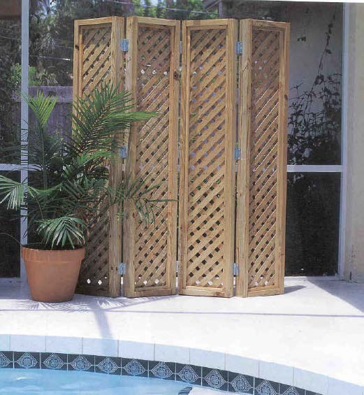 Diy how to make wooden outdoor privacy screens plans free for Wood patio privacy screens