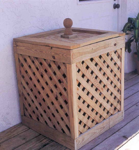 Trash Container, Outdoor Wood Plans, IMMEDIATE DOWNLOAD