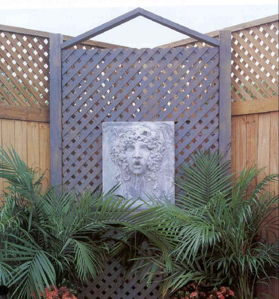 Trellis and Fountain, Outdoor Wood Plans, IMMEDIATE DOWNLOAD - Click Image to Close