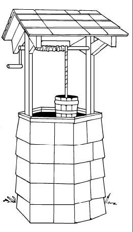 Wishing Well, Outdoor Wood Plans, IMMEDIATE DOWNLOAD