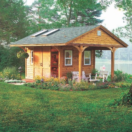 SAMPLE - Deluxe Rustic Yard Shed Plans, DOWNLOAD