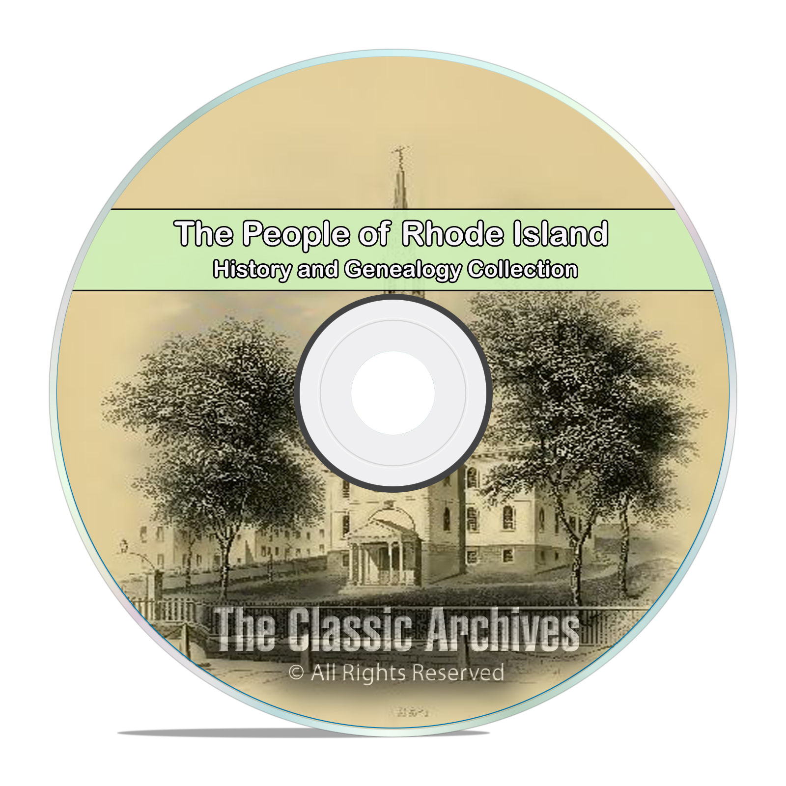 Rhode Island RI, People Cities Towns, History and Genealogy. 125 Books DVD