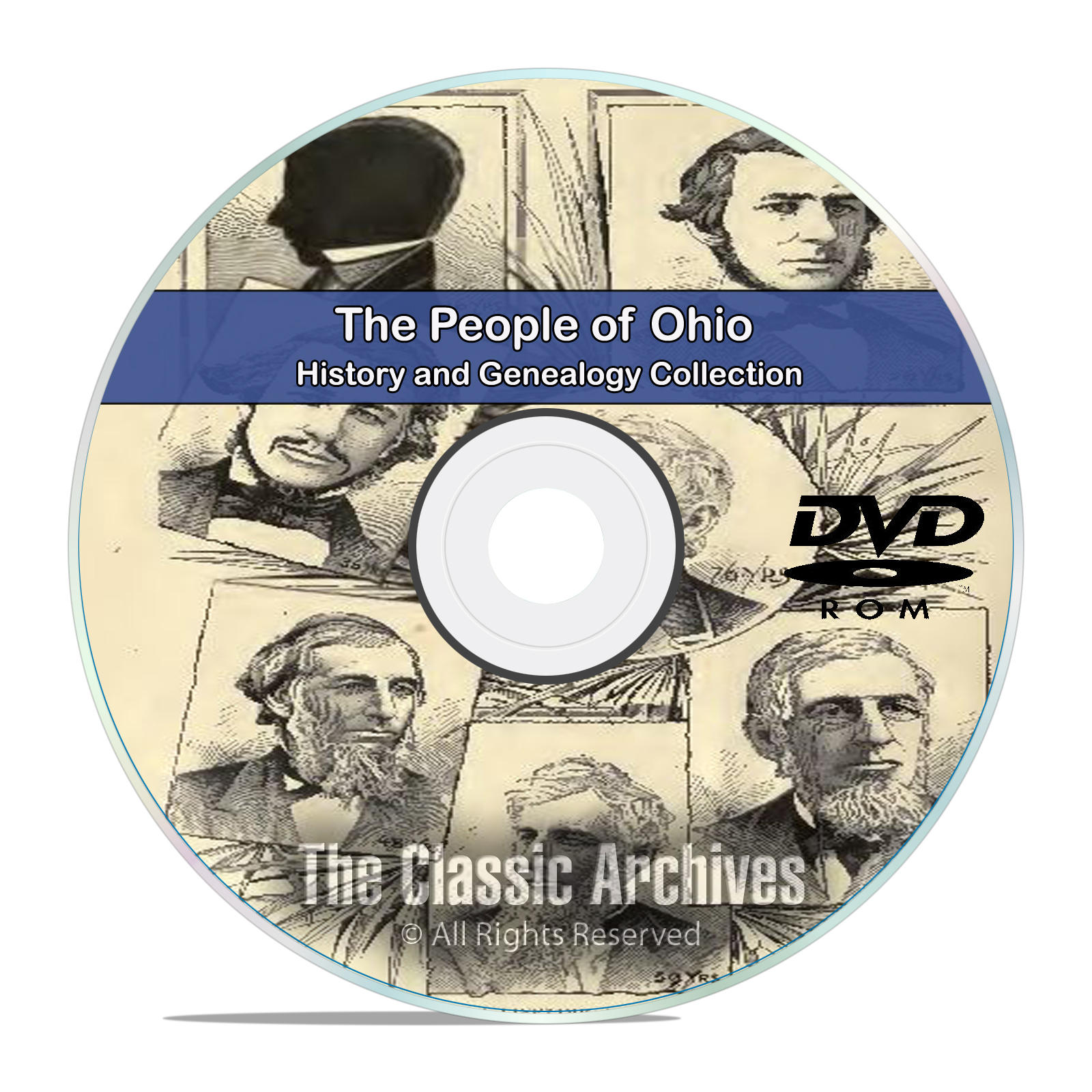 Ohio OH, People Cities Towns, History and Genealogy 104 Rare Books DVD