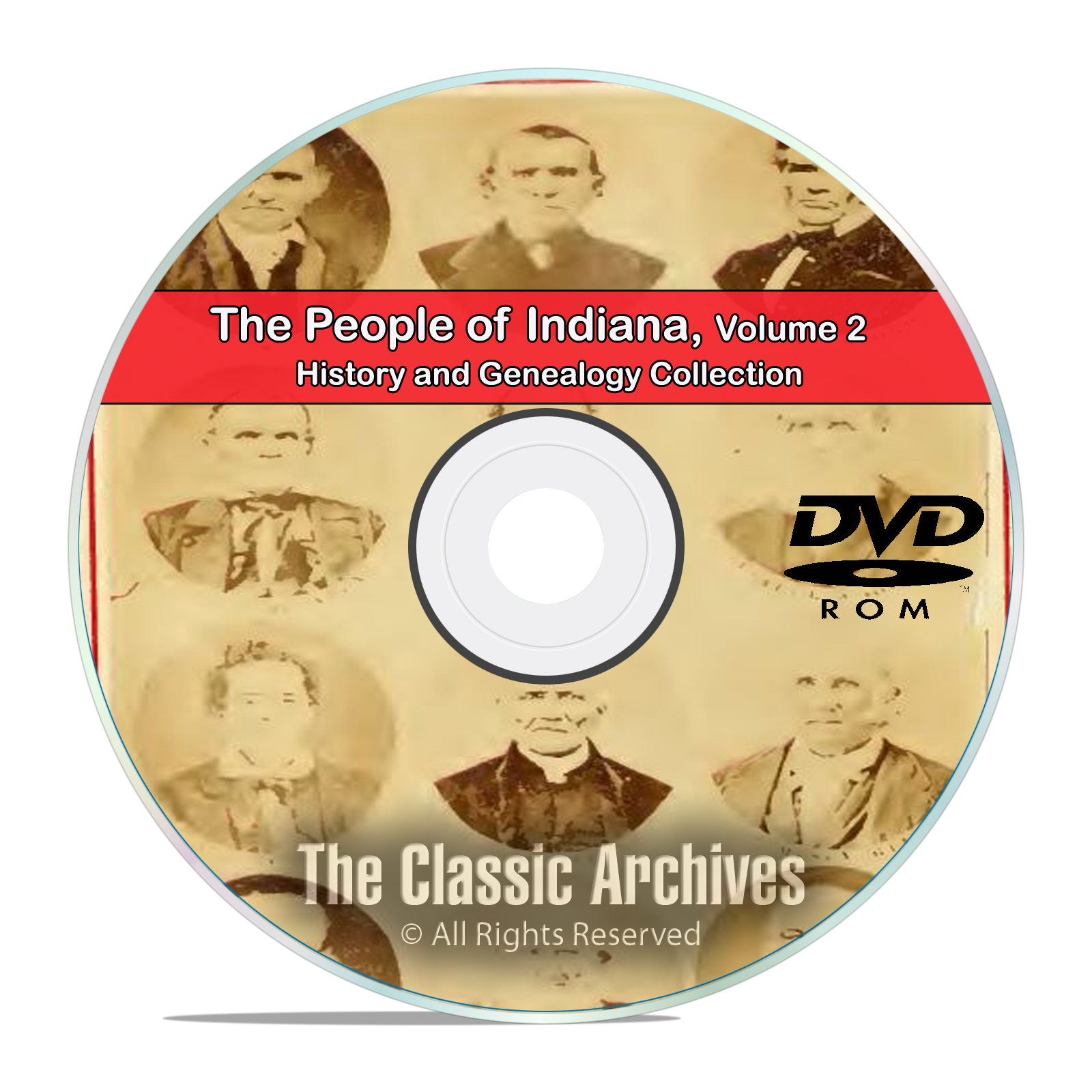 Indiana IN Vol 2 People Cities Towns History and Genealogy 103 Books DVD