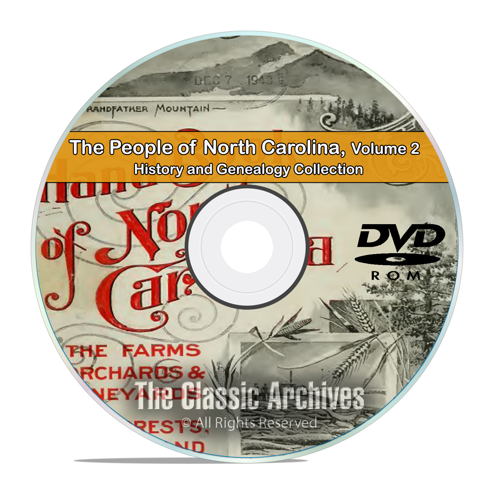 North Carolina NC Vol2 People Cities History Genealogy 68 Books DVD