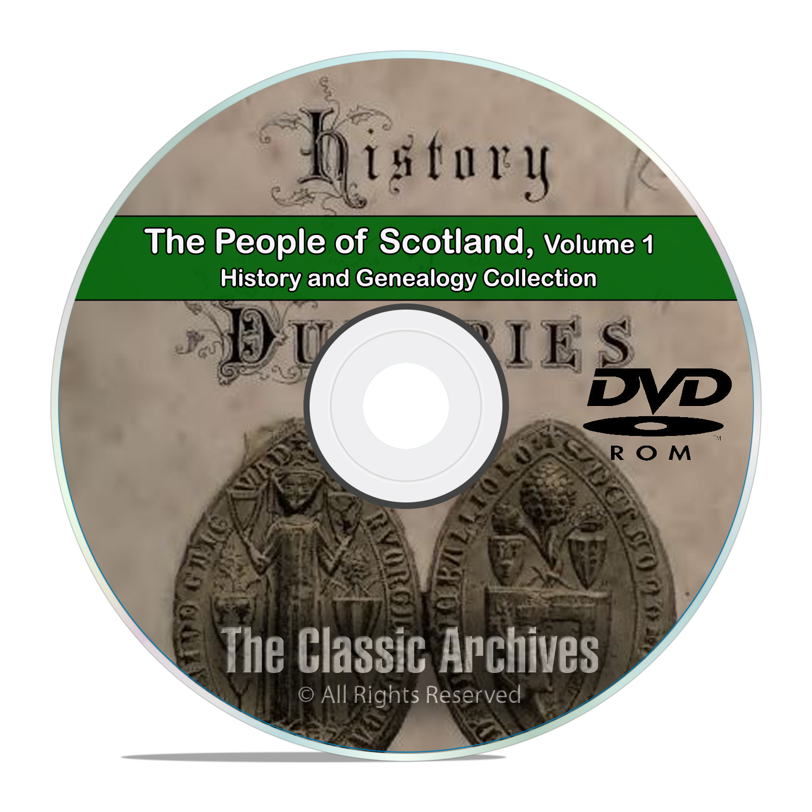 Scotland Vol 1 People Cities Towns History and Genealogy 124 Books DVD