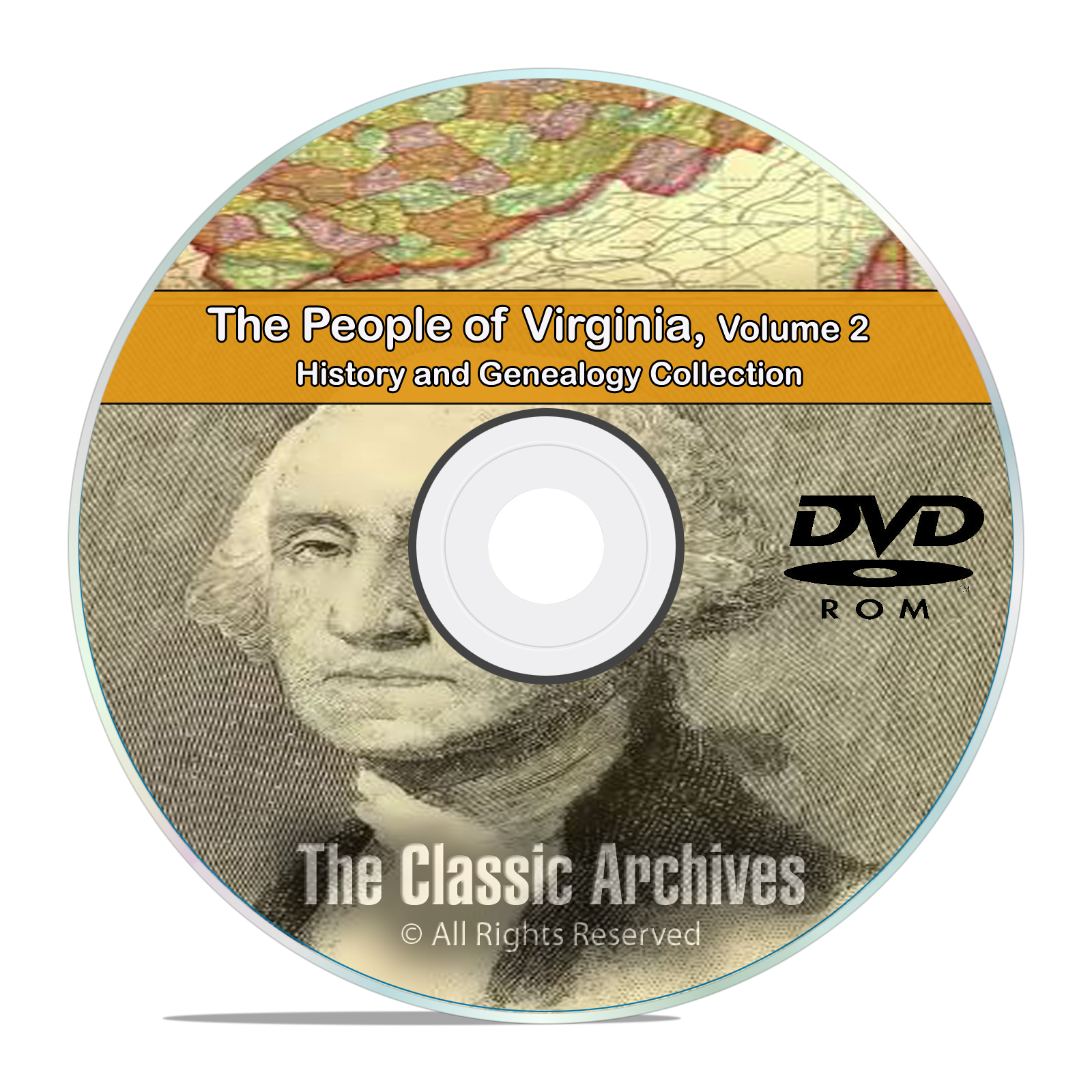 Virginia VA Vol 2 People Cities Towns History and Genealogy 150 Books DVD