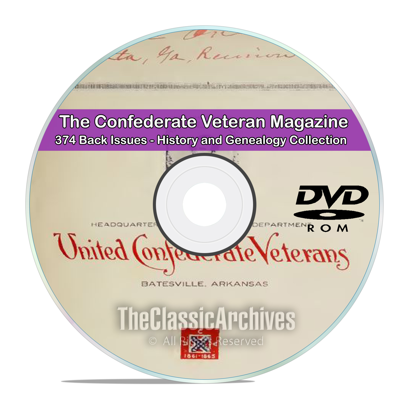 The Confederate Veteran 374 Magazines, Civil War History & Genealogy DVD