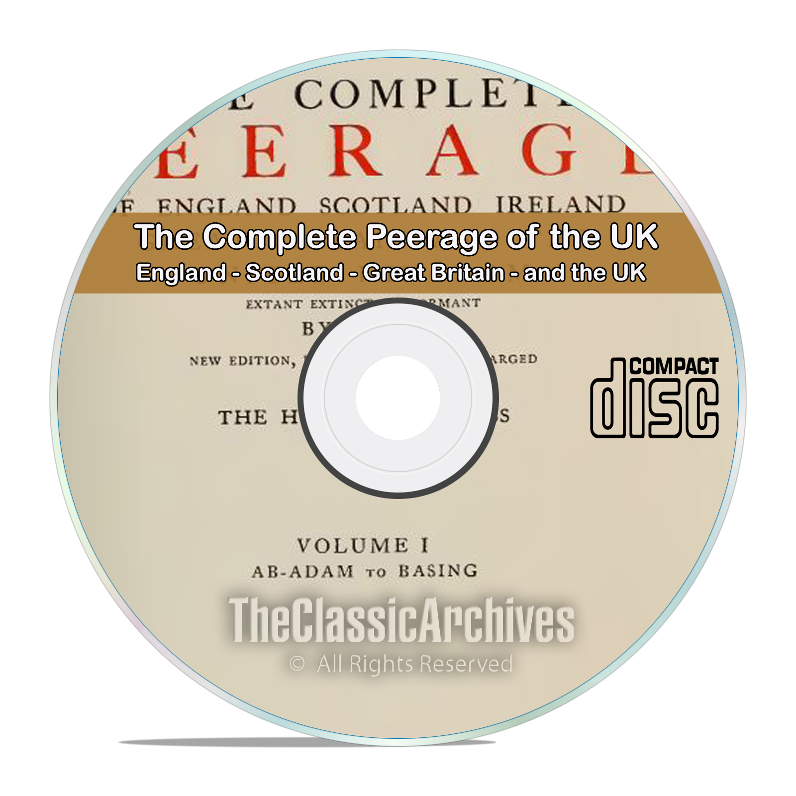 The Complete Peerage of England, Scotland, Ireland, Great Britain, UK CD