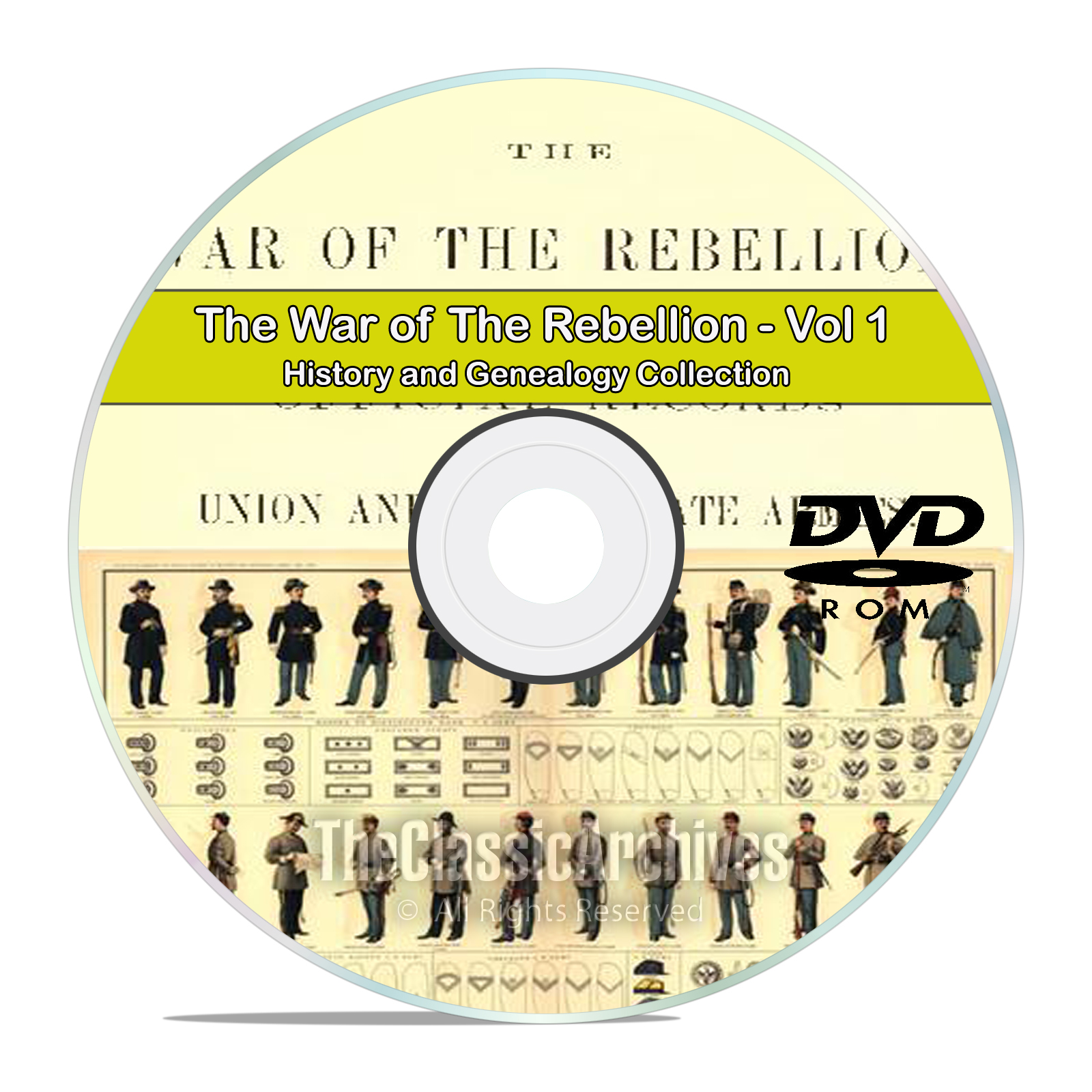 The Civil War of the Rebellion, Records, Atlas History Books Volume 1 DVD