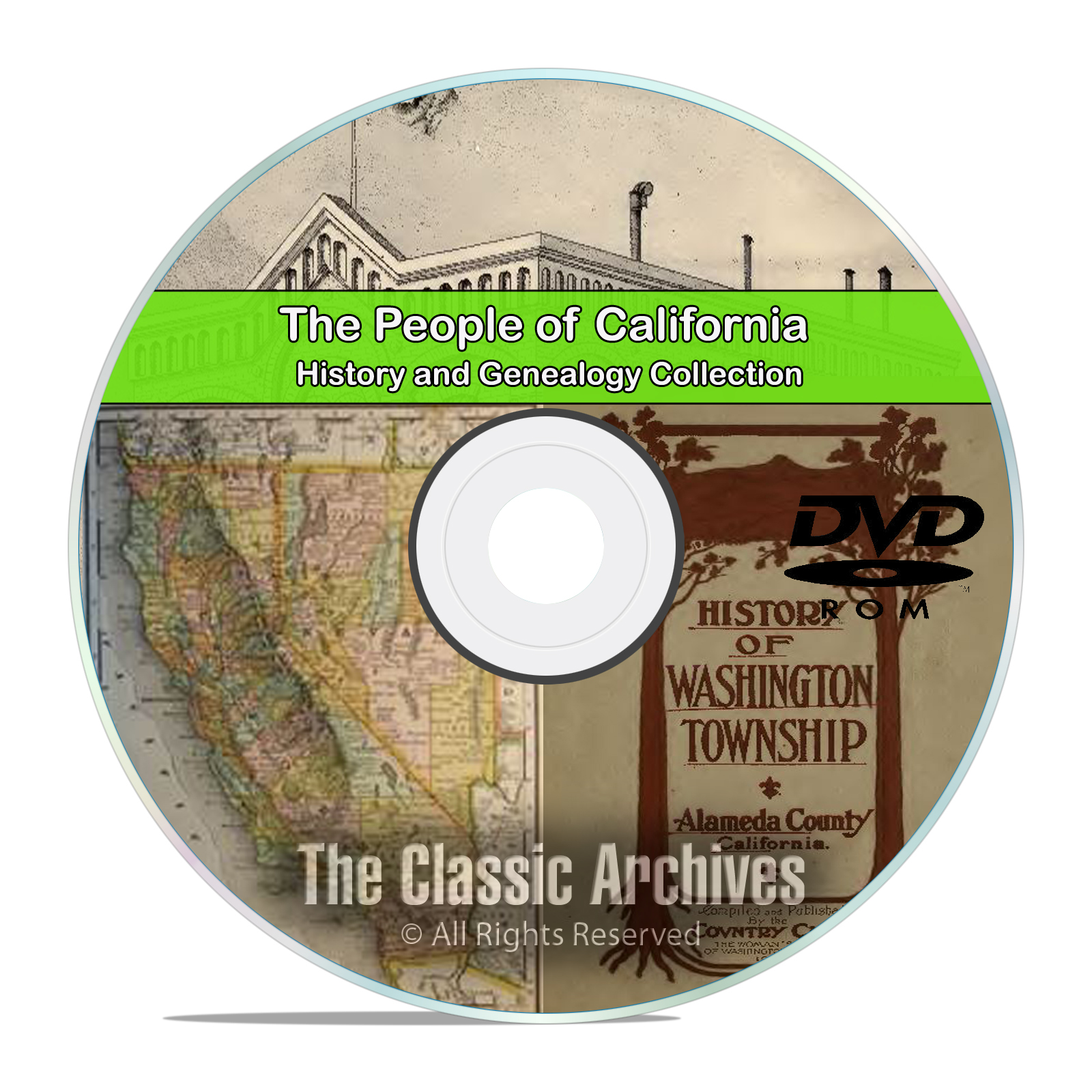 California CA, People, Cities, Towns, History and Genealogy 27 books DVD
