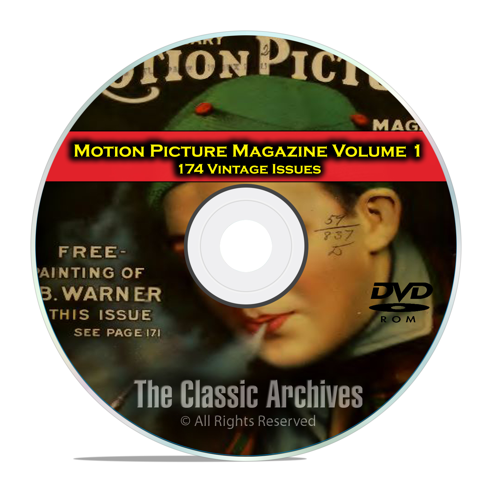 Motion Picture Movie Magazine, Volume 1, 174 Issues, 1911 - 1925, DVD