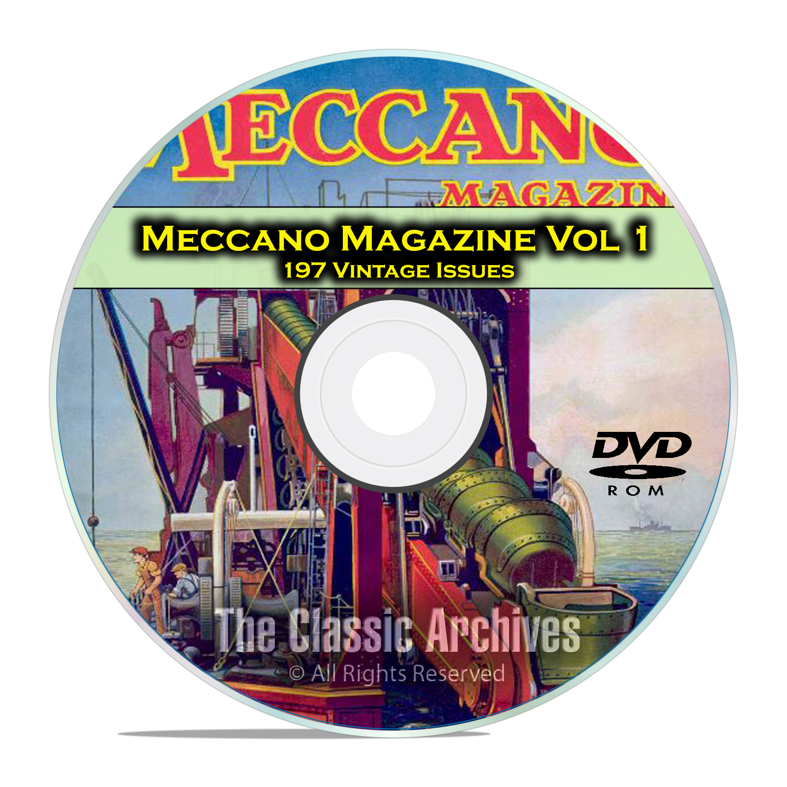 Meccano Magazine Volume 1, 197 Vintage Issues, Boy Hobby Magazine DVD