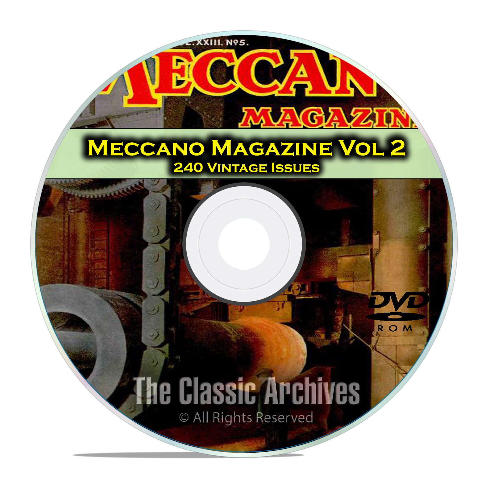 Meccano Magazine Volume 2, 240 Vintage Issues, Boy Hobby Magazine DVD