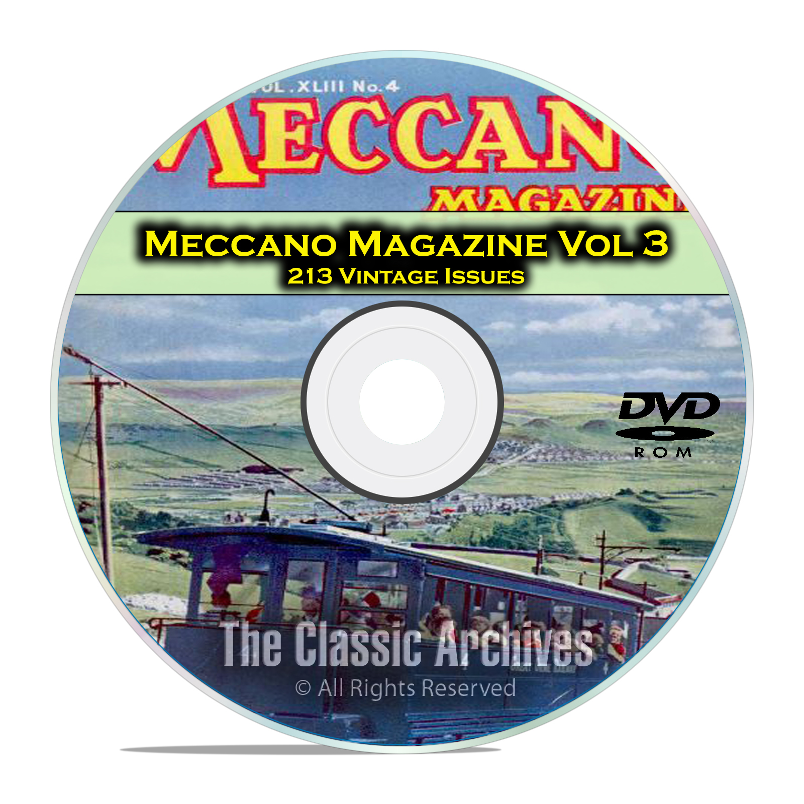 Meccano Magazine Volume 3, 213 Vintage Issues, Boy Hobby Magazine DVD