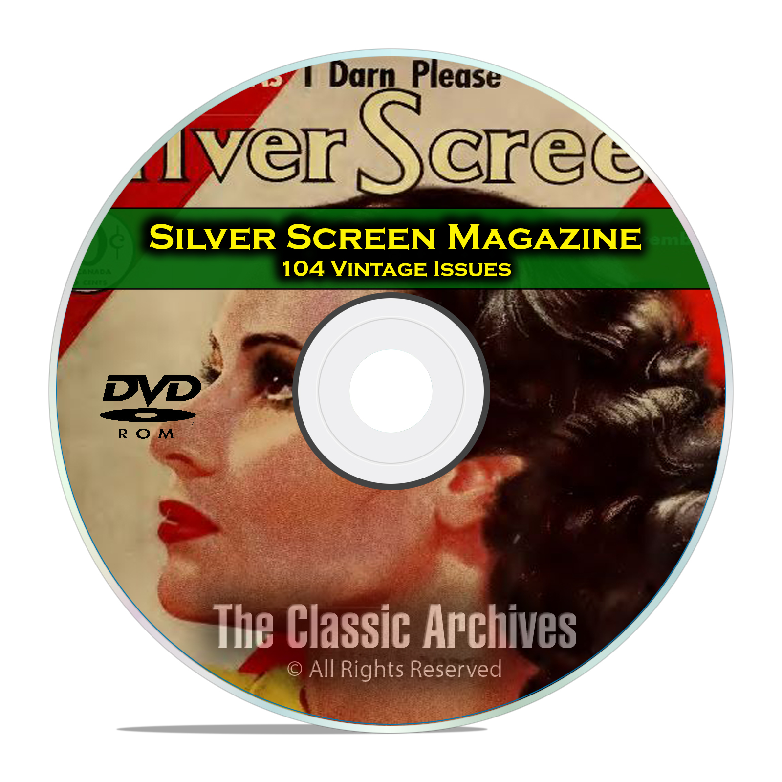 Silver Screen Magazine, 104 Issues, Vintage Hollywood Movie History, DVD