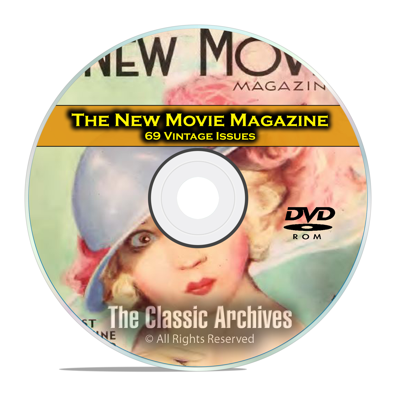 The New Movie Magazine, 69 Issues, Vintage Movie Fan History, DVD - Click Image to Close
