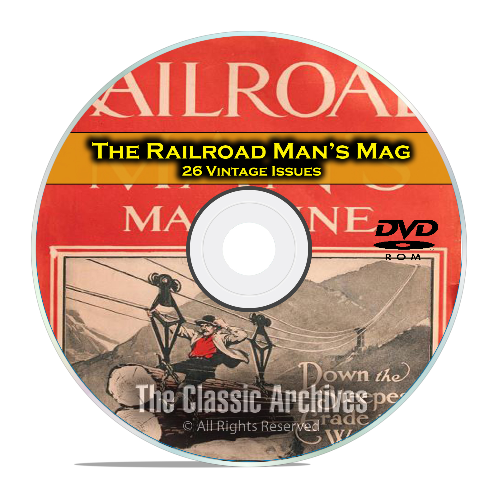 The Railroad Mans Magazine, 26 Vintage Issues Railroad American History DVD