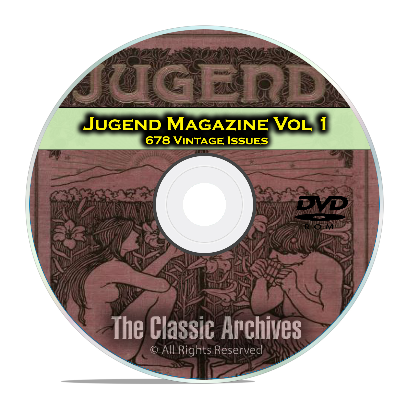Jugend Vintage German Art Nouveau Magazine Jugendstil, 678 Issues Vol 1 DVD