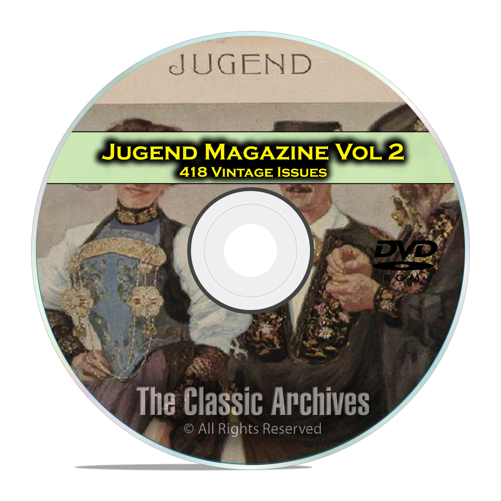 Jugend Vintage German Art Nouveau Magazine Jugendstil, 418 Issues Vol 2 DVD