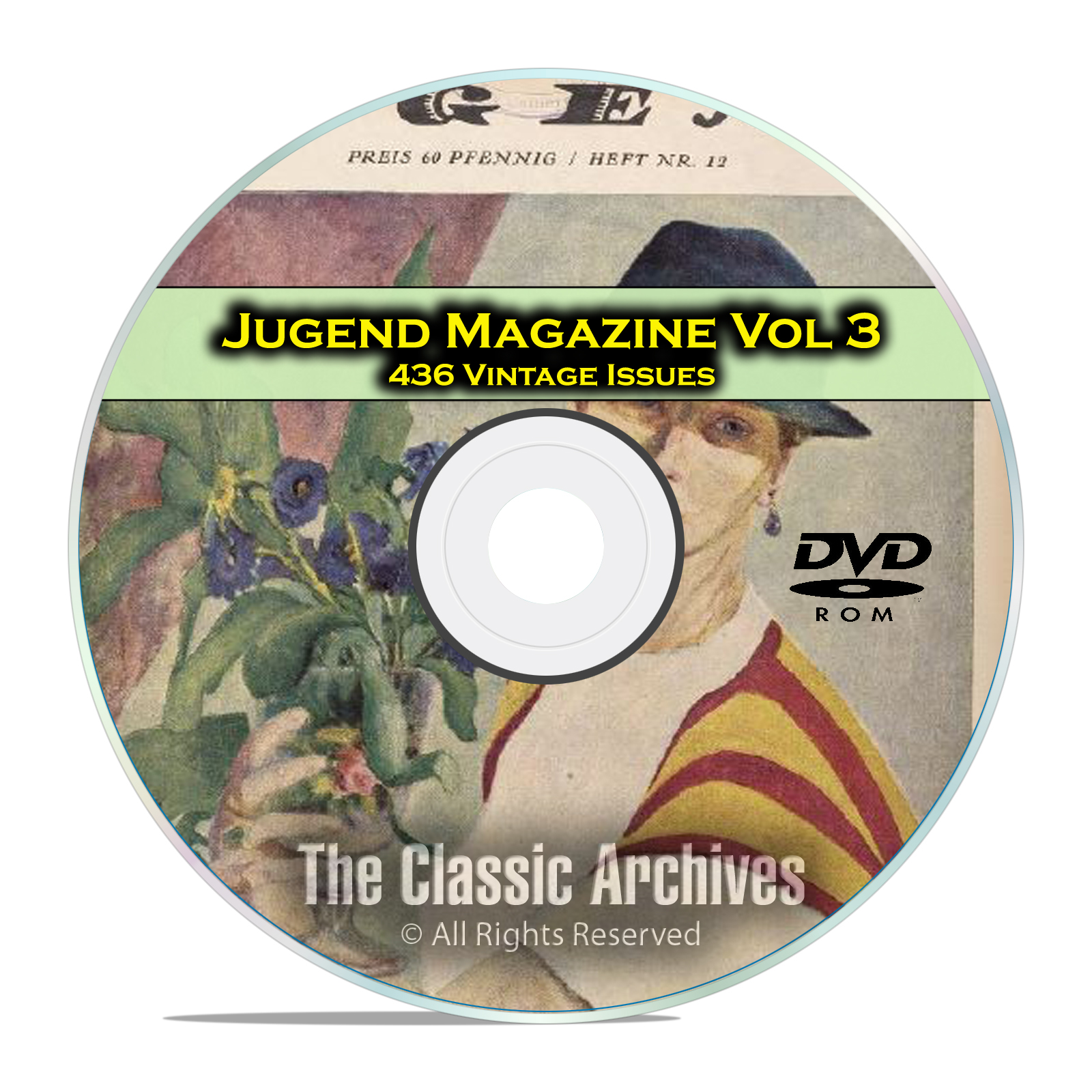 Jugend Vintage German Art Nouveau Magazine Jugendstil, 436 Issues Vol 3 DVD