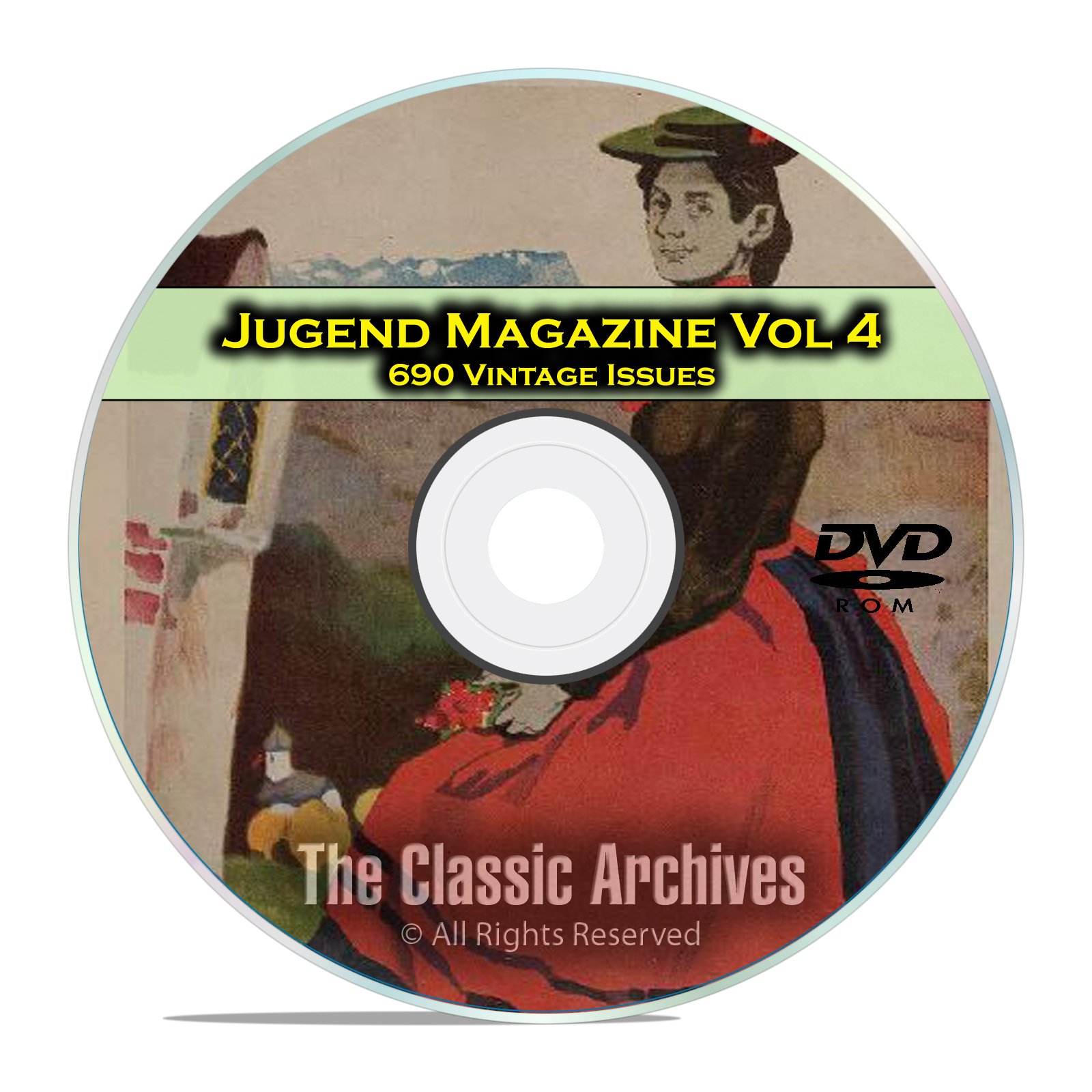 Jugend Vintage German Art Nouveau Magazine Jugendstil, 690 Issues Vol 4 DVD