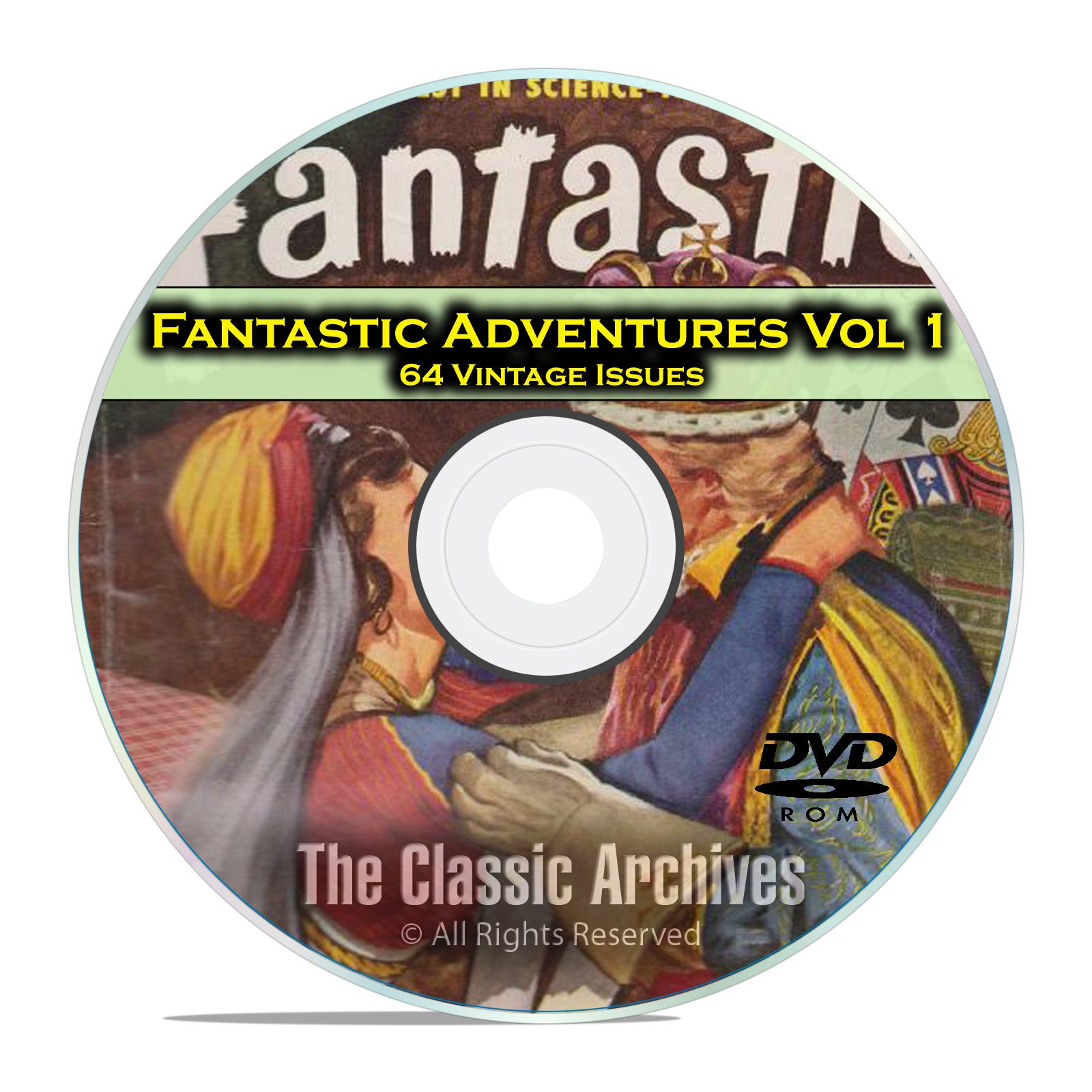 Fantastic Adventures Vol 1, 64 Vintage Pulp Magazine Golden Age Fiction DVD