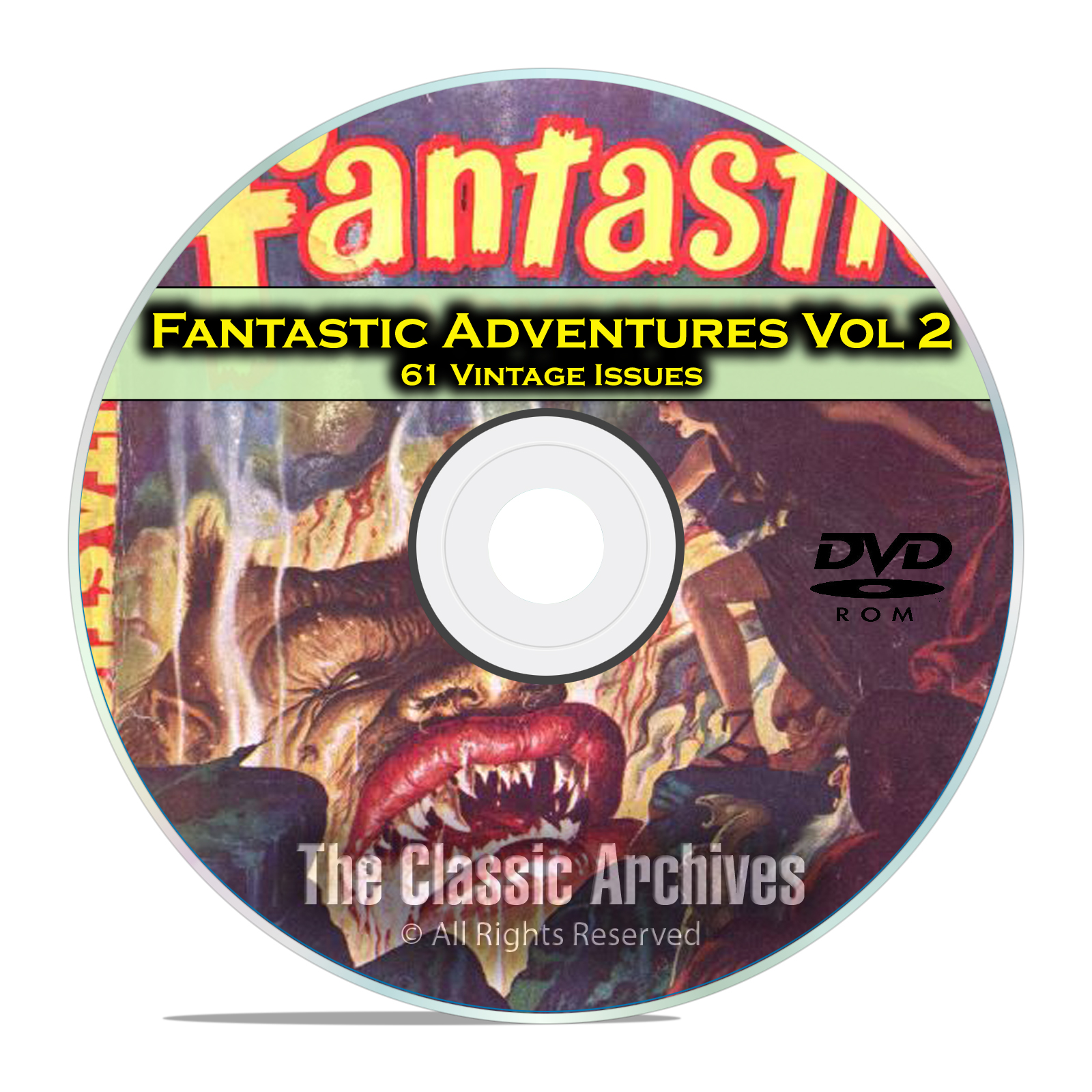 Fantastic Adventures Vol 2, 61 Vintage Pulp Magazine Golden Age Fiction DVD