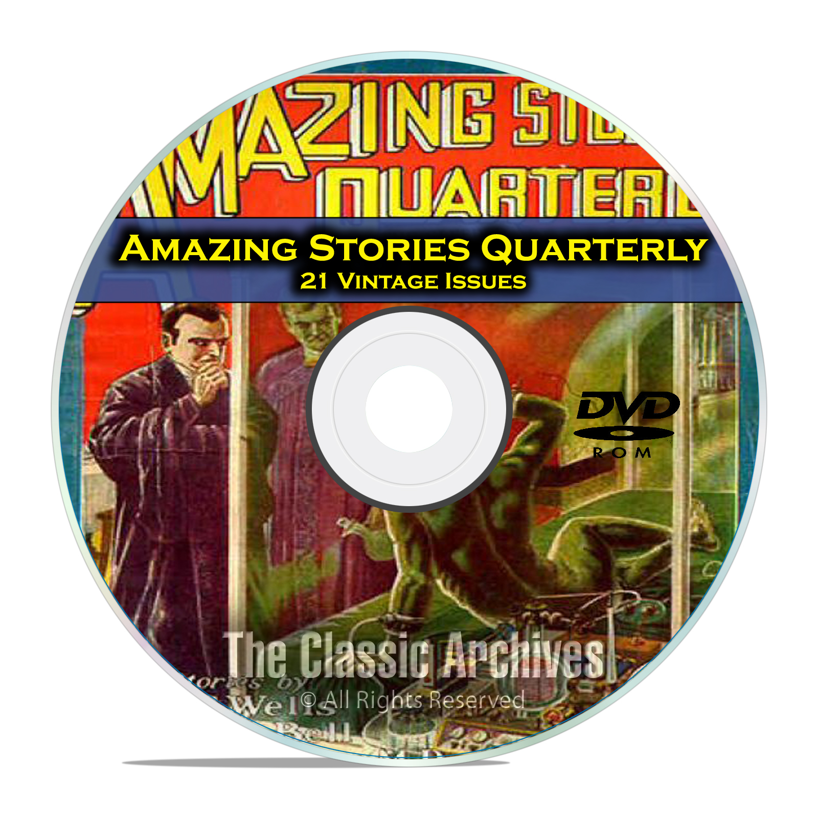 Amazing Stories Quarterly, 21 Vintage Pulp Magazines Golden Age Fiction DVD