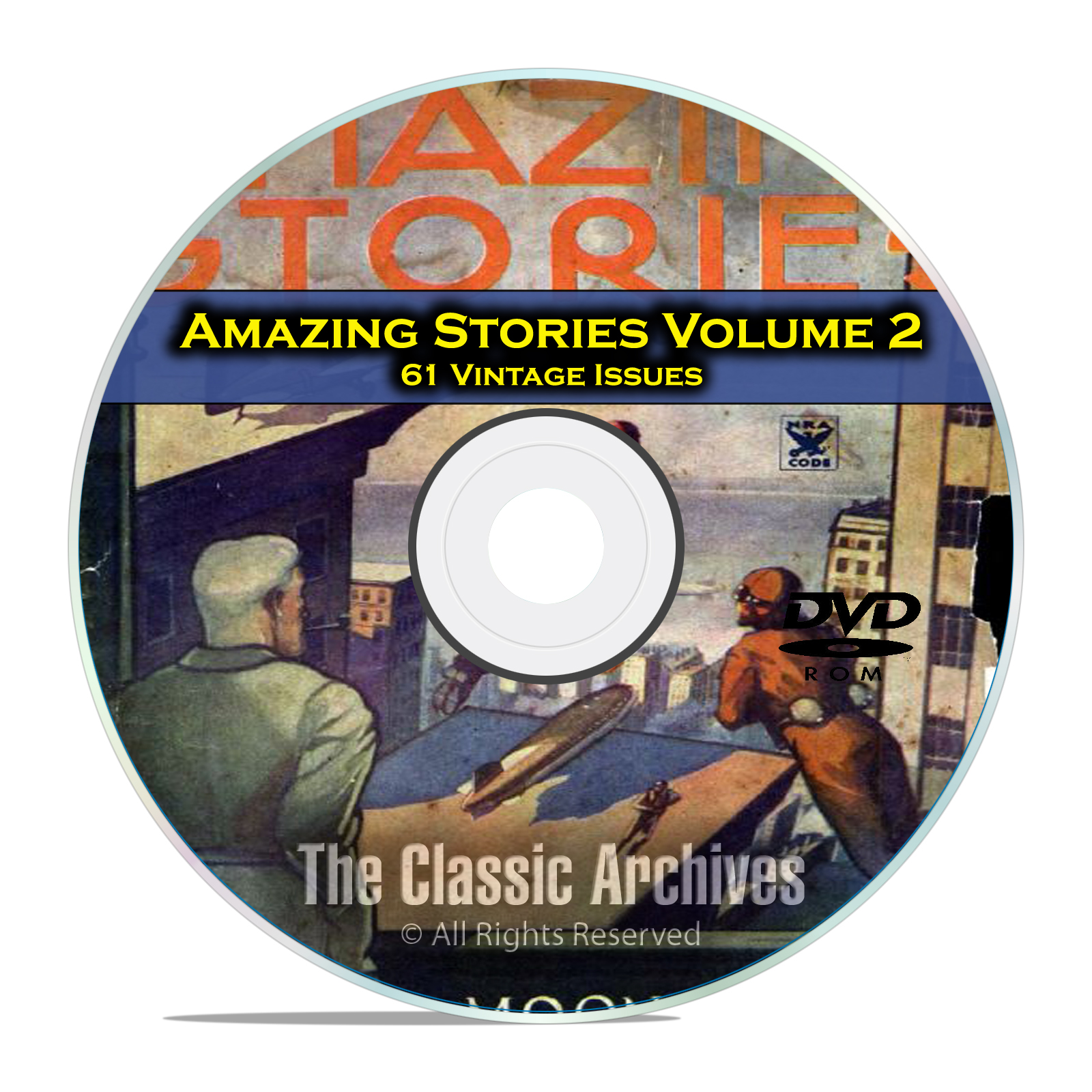 Amazing Stories Vol 2, 61 Vintage Pulp Magazine Fiction, Hugo Gernsbeck DVD