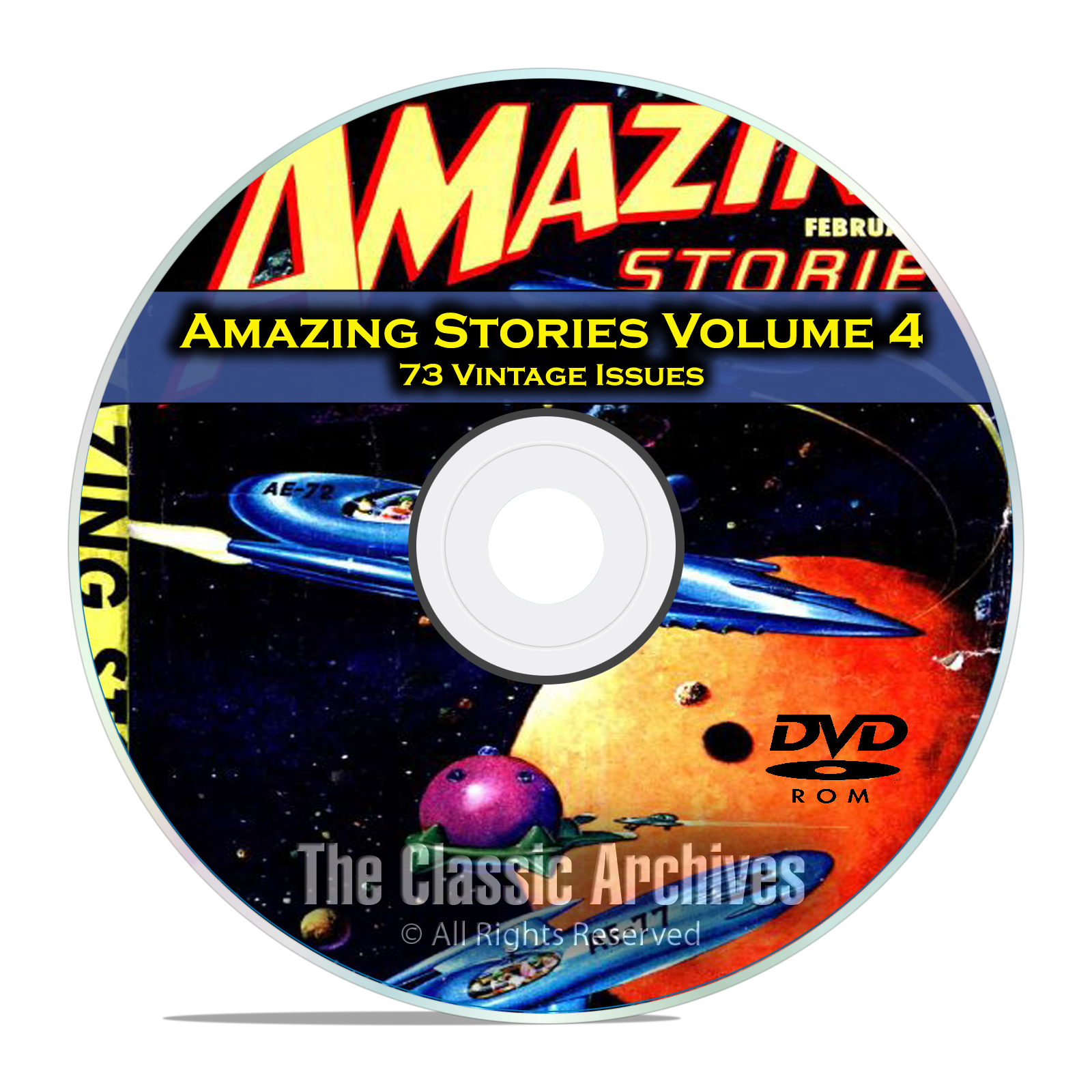 Amazing Stories Vol 4, 73 Vintage Pulp Magazine Fiction, Hugo Gernsbeck DVD