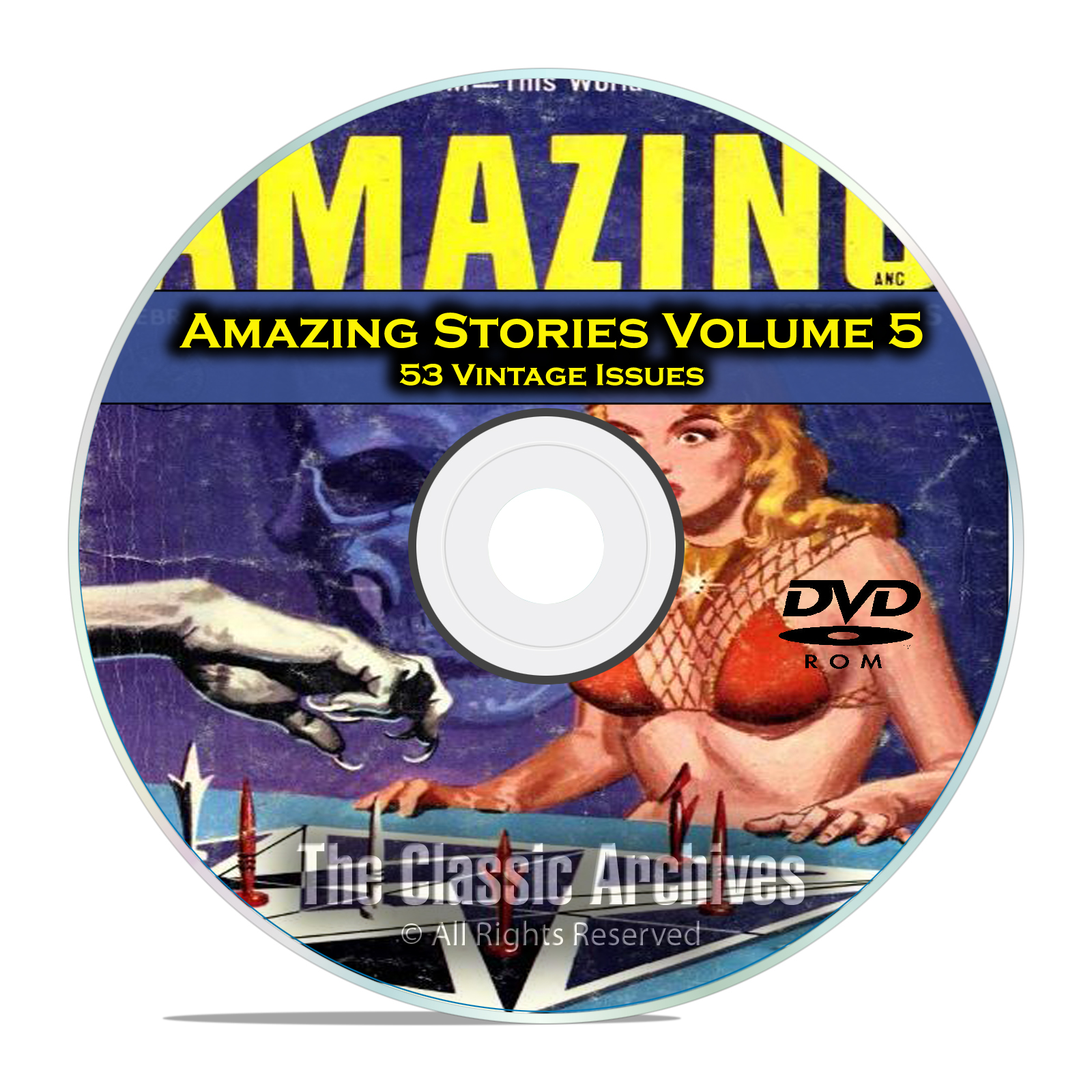 Amazing Stories Vol 5, 53 Vintage Pulp Magazine Fiction, Hugo Gernsbeck DVD