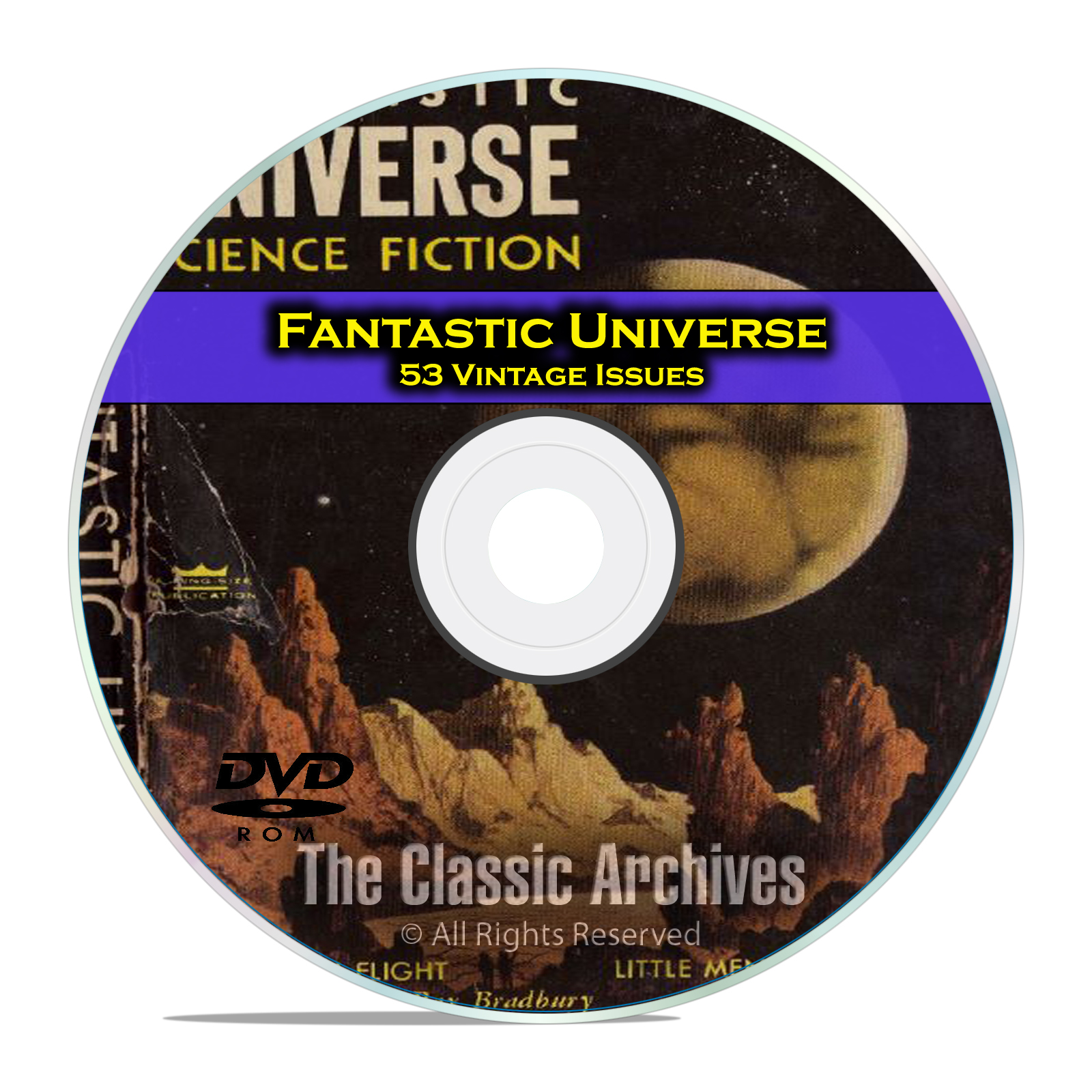 Fantastic Universe, 53 Vintage Pulp Magazine Golden Age Science Fiction DVD