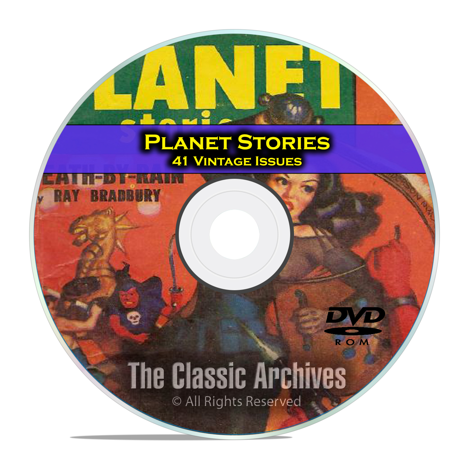 Planet Stories, 41 Vintage Pulp Magazines, Golden Age Science Fiction DVD - Click Image to Close