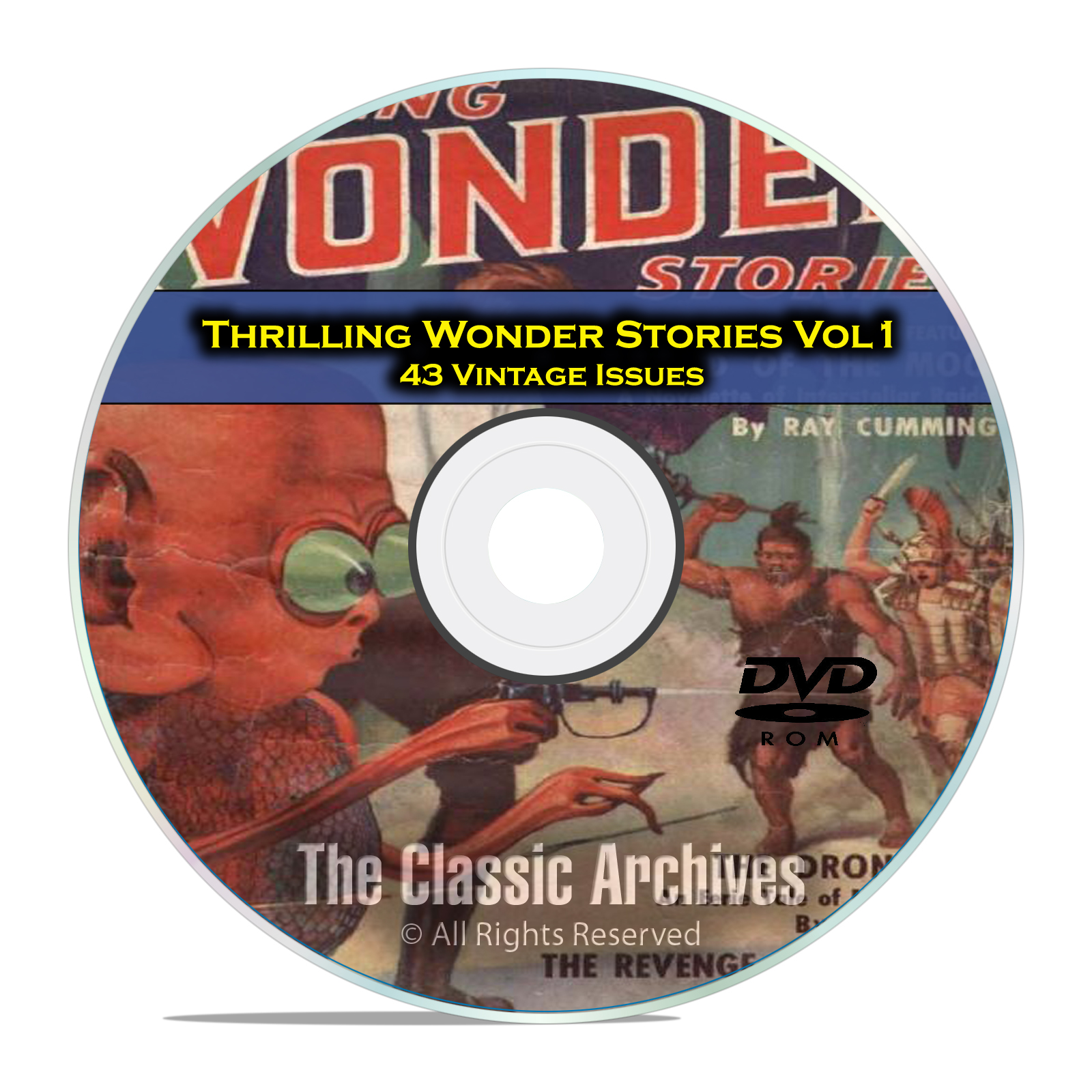 Thrilling Wonder Stories, Vol 1, 43 Vintage Pulp Magazine, Fiction DVD