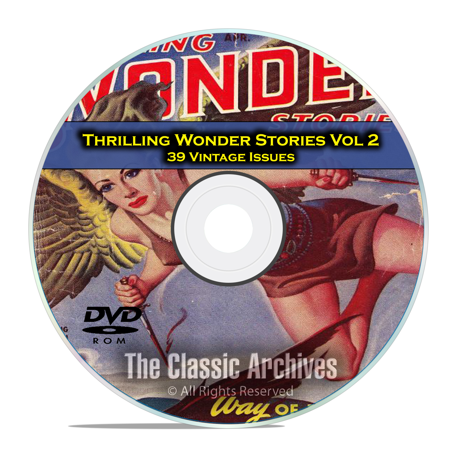 Thrilling Wonder Stories, Vol 2, 39 Vintage Pulp Magazine, Fiction DVD
