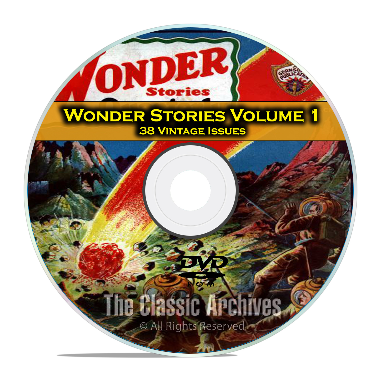 Wonder Stories, Vol 1, 38 Vintage Pulp Magazine, Golden Science Fiction DVD