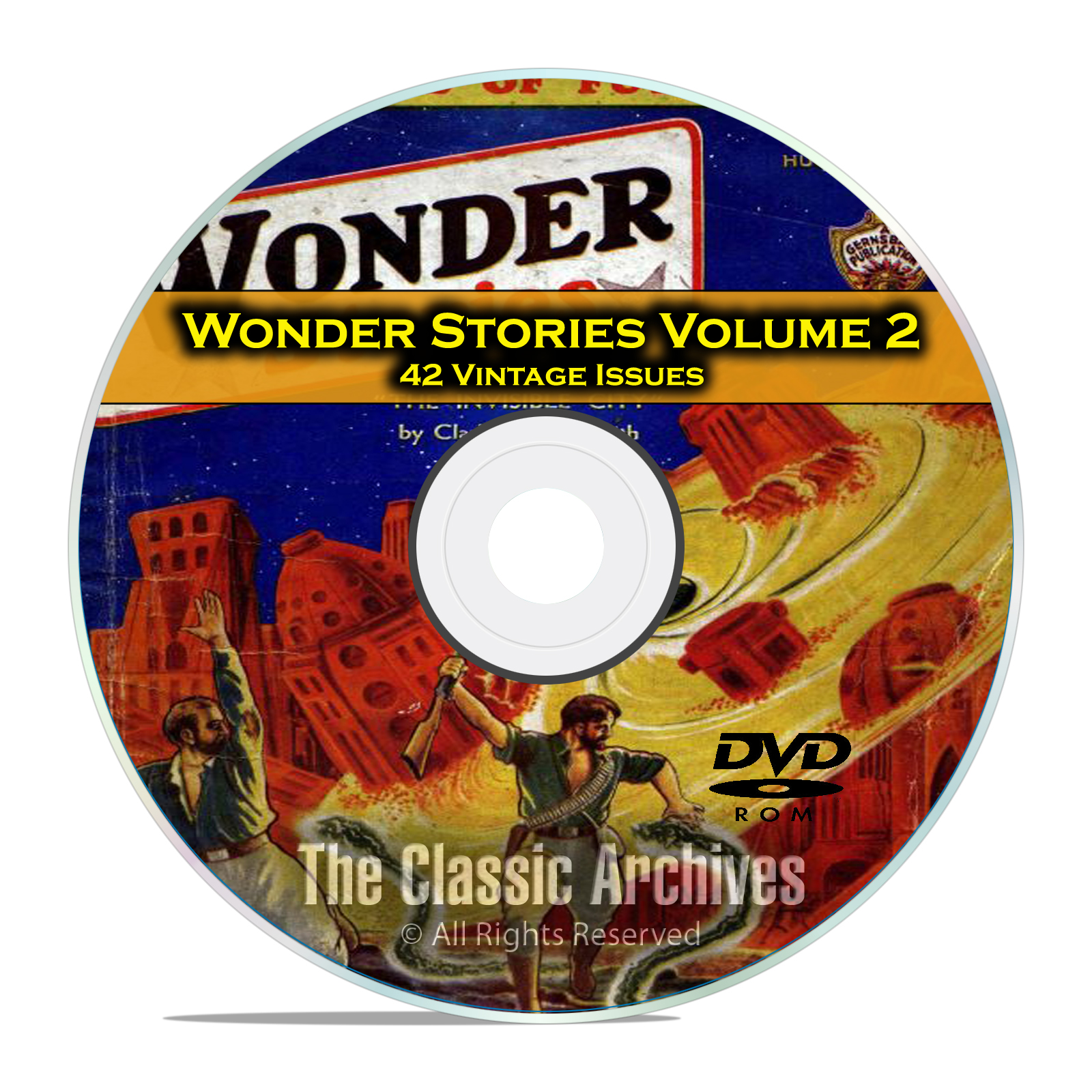 Wonder Stories, Vol 2, 42 Vintage Pulp Magazine, Golden Science Fiction DVD