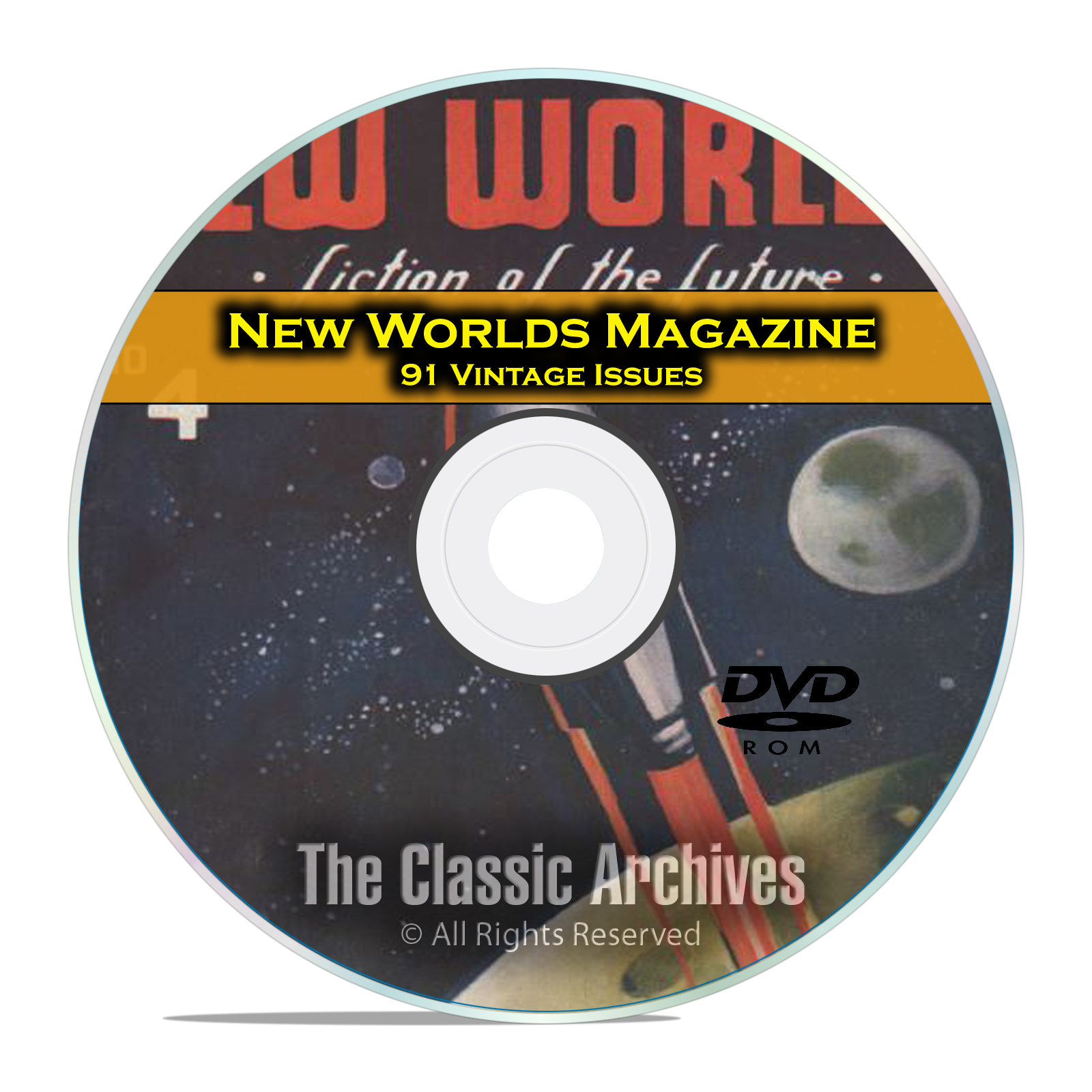 New Worlds, 91 Vintage Pulp Magazine, Golden Age Science Fiction DVD