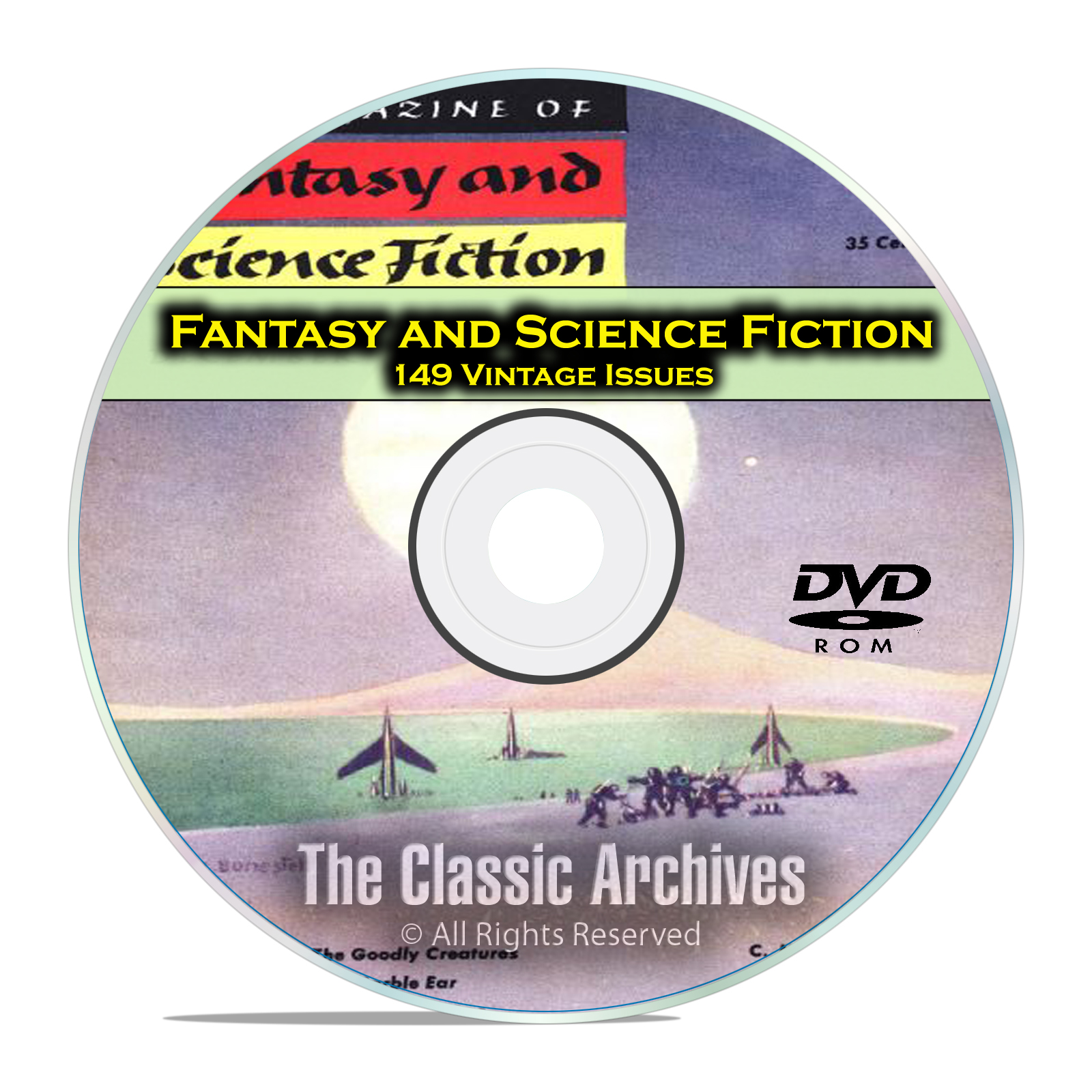 Fantasy & Science Fiction, 149 Vintage Pulp Magazine, Golden Age SCI FI DVD