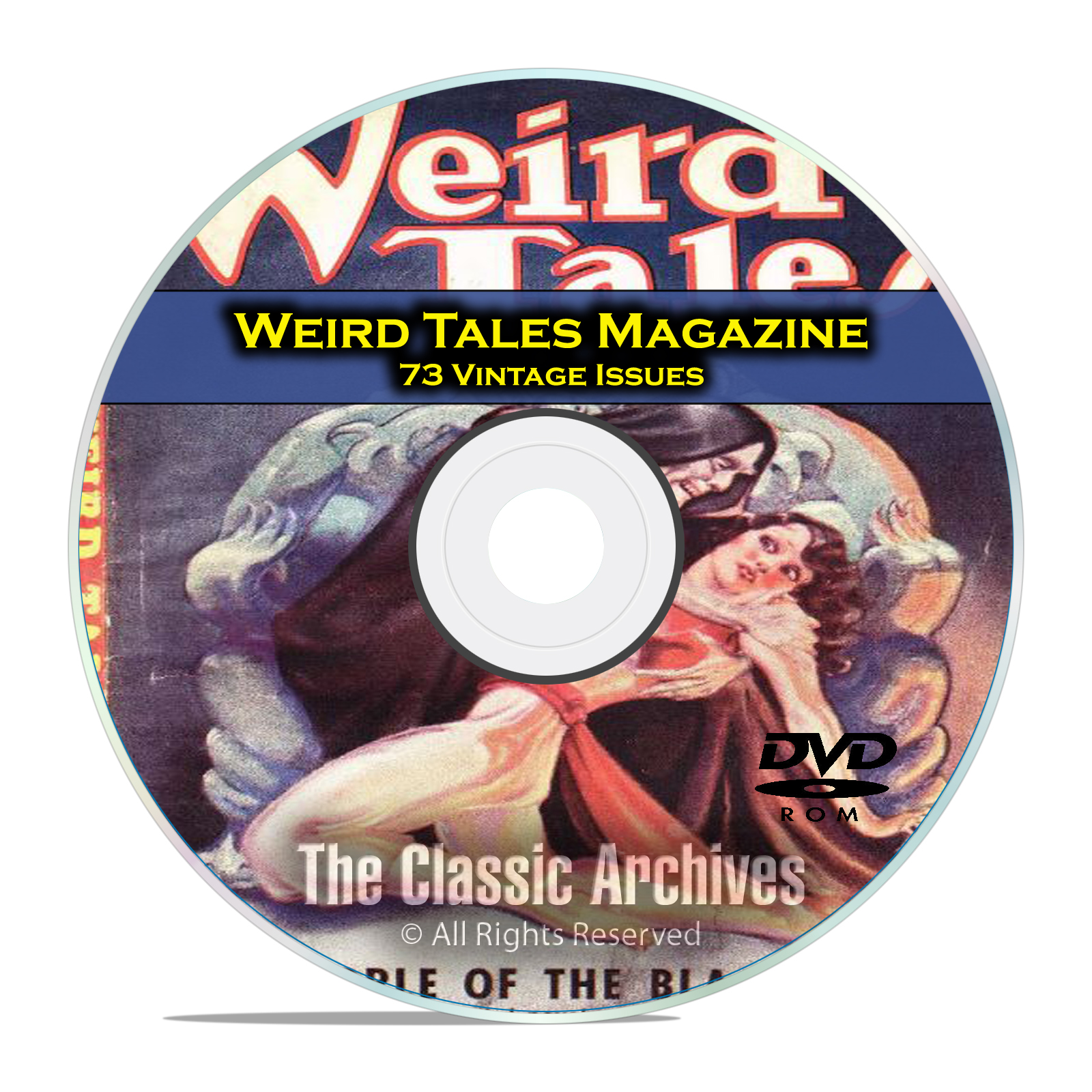 Weird Tales, 73 Vintage Pulp Magazine, Golden Age Science Fiction DVD