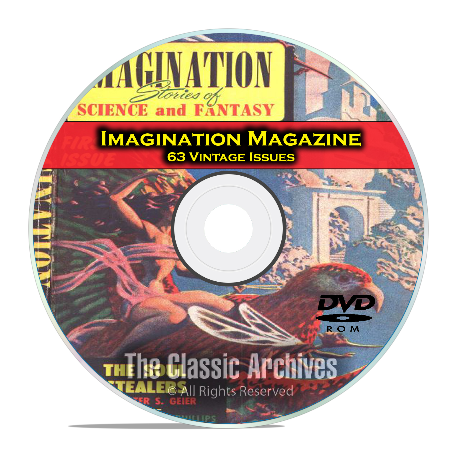Imagination Magazine, 63 Vintage Pulp Magazine, Science Fiction DVD