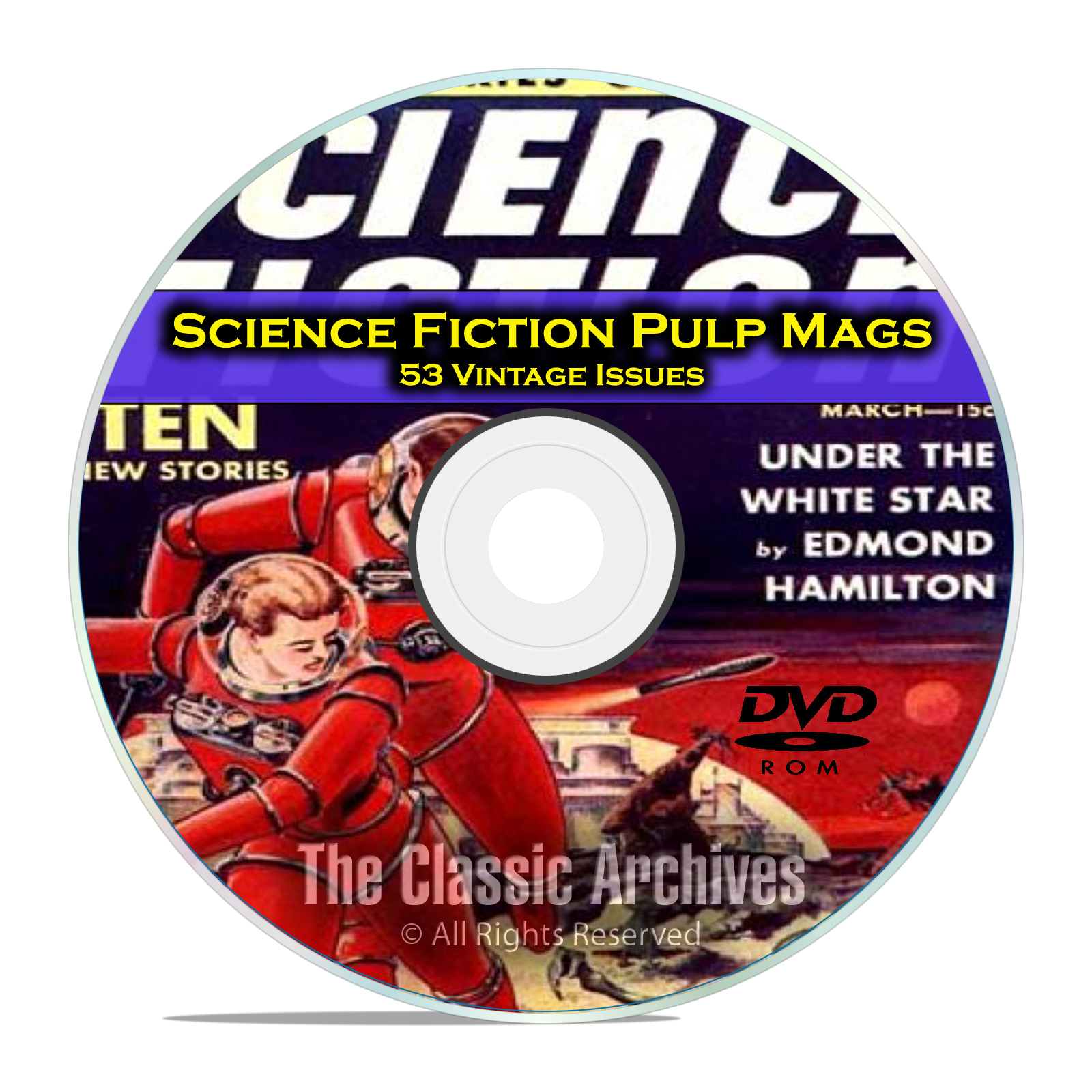 Science Fiction Adventures, Stories, Vintage Pulp Magazine, Fiction DVD