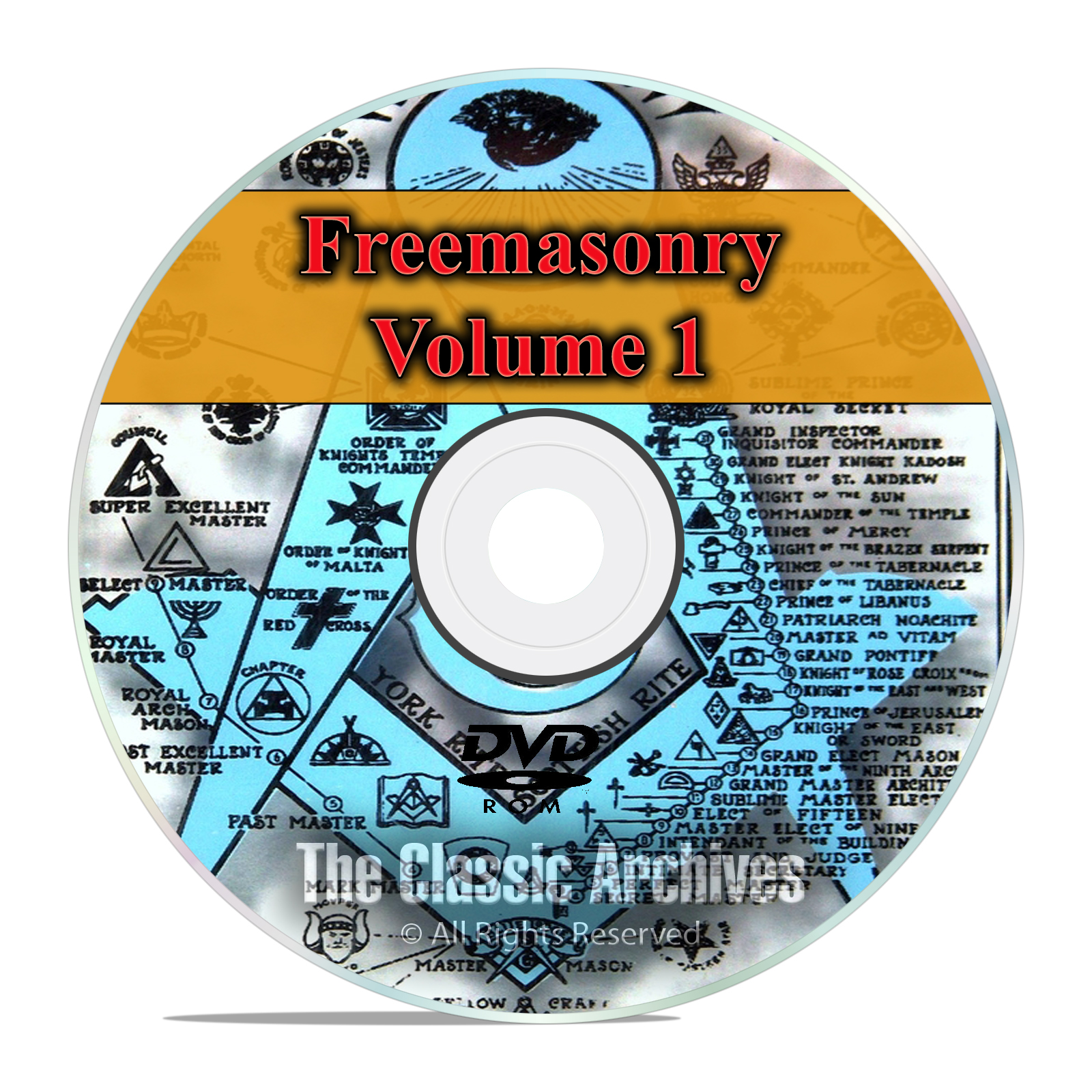 Freemason Secret Society Knights Templar Masonic Library 650 Books Vol1 DVD